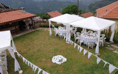 Събитие на открито – сватба, градинско парти, кръщенка